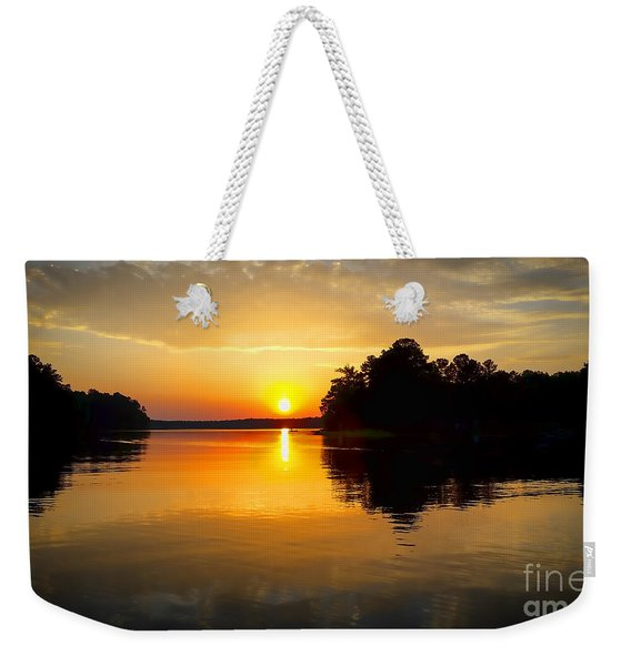 A Golden Moment Weekender Tote Bag