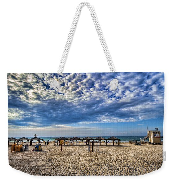 a good morning from Jerusalem beach  Weekender Tote Bag