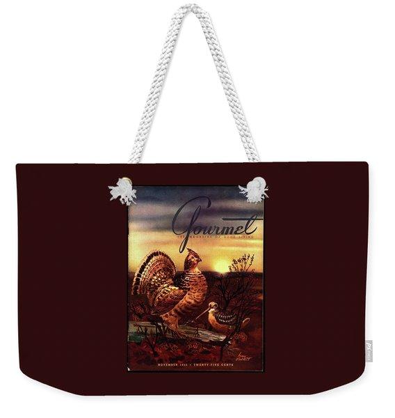 A Gourmet Cover Of A Turkey Weekender Tote Bag