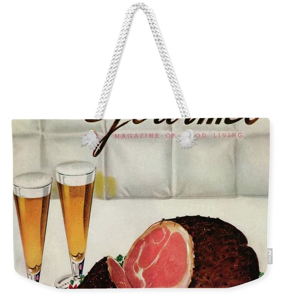 A Gourmet Cover Of Ham Weekender Tote Bag