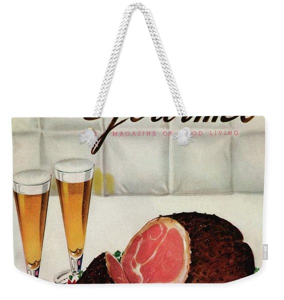 A Gourmet Cover Of Ham Weekender Tote Bag