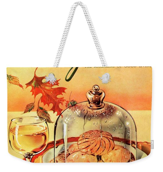 A Gourmet Cover Of Mushrooms On Toast Weekender Tote Bag