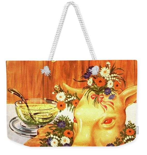 A Gourmet Cover Of Tete De Veau Weekender Tote Bag