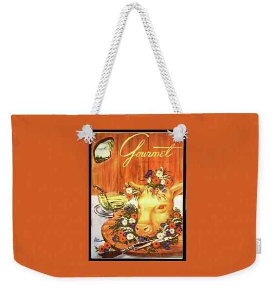 A Gourmet Cover Of Tete De Veau Weekender Tote Bag