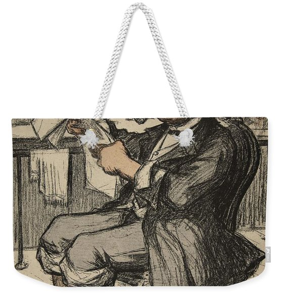 A Government Official Reading Weekender Tote Bag