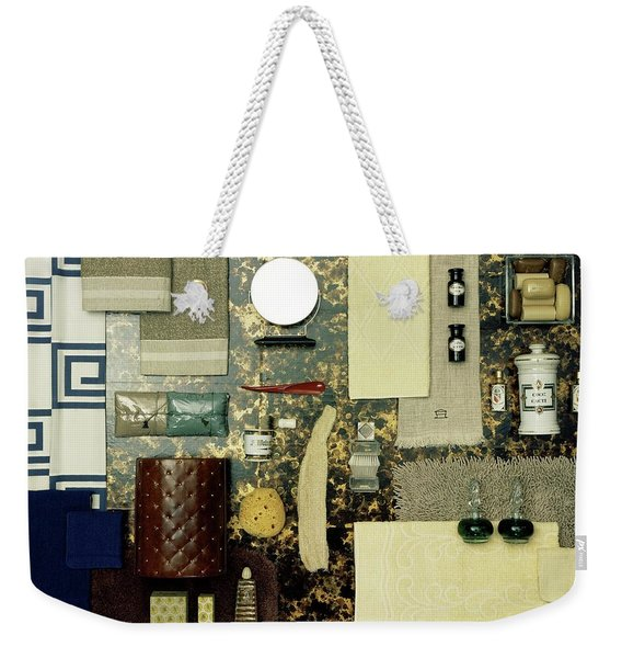 A Group Of Household Items Weekender Tote Bag
