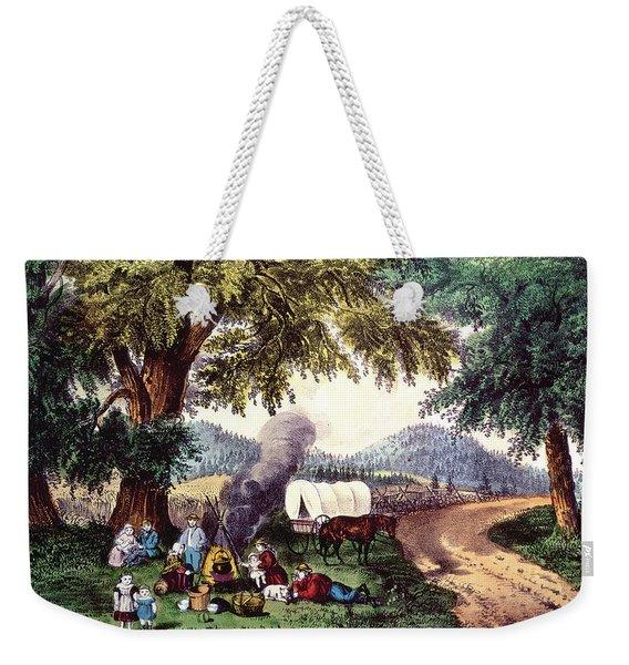 A Halt By The Wayside  Weekender Tote Bag