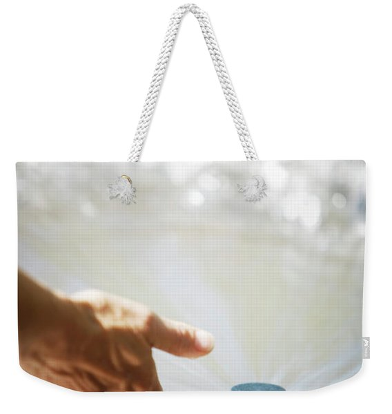 A Hand In A Playground Sprinkler Weekender Tote Bag