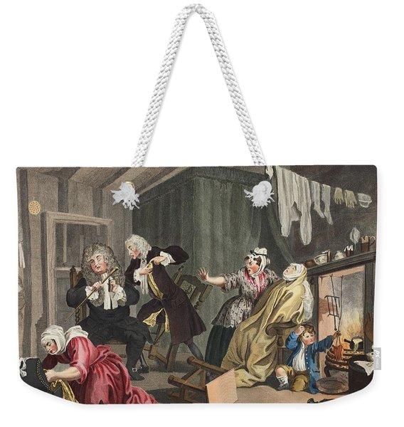 A Harlots Progress, Plate V Weekender Tote Bag