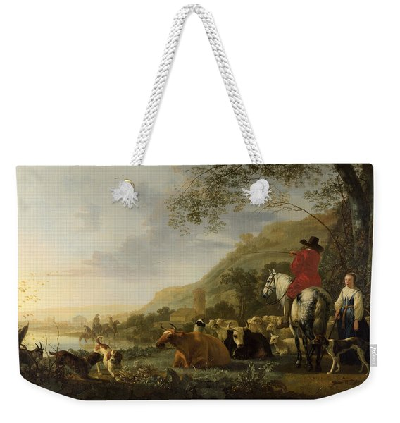 A Hilly Landscape With Figures Weekender Tote Bag