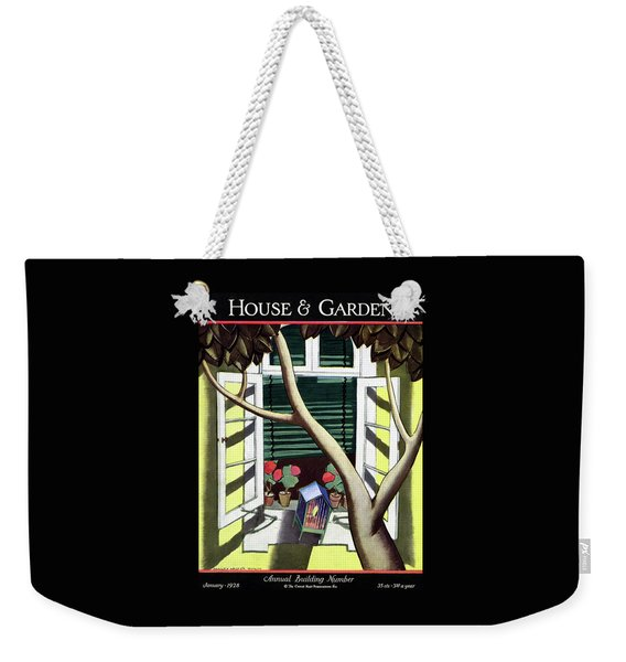 A House And Garden Cover Of A Birdcage Weekender Tote Bag