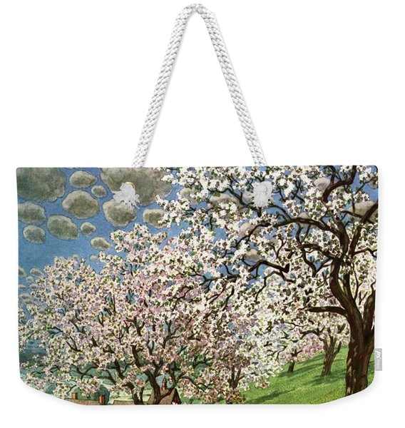 A House And Garden Cover Of A Calf Weekender Tote Bag