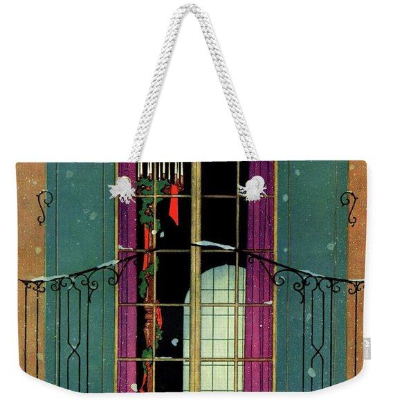 A House And Garden Cover Of A Christmas Weekender Tote Bag