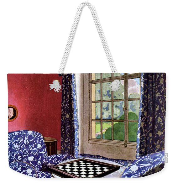A House And Garden Cover Of A Country Living Room Weekender Tote Bag
