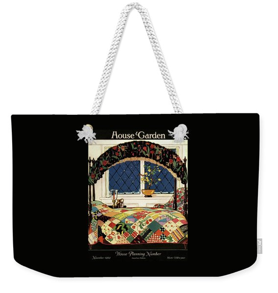 A House And Garden Cover Of A Four-poster Bed Weekender Tote Bag