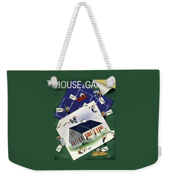 A House And Garden Cover Of A House Weekender Tote Bag