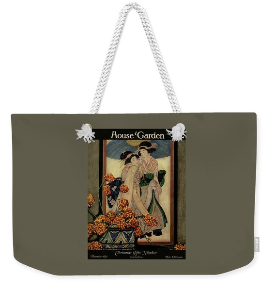A House And Garden Cover Of A Japanese Print Weekender Tote Bag