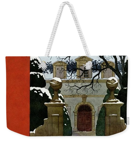 A House And Garden Cover Of A Mansion Weekender Tote Bag