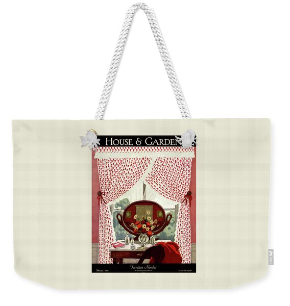 A House And Garden Cover Of A Mirror Weekender Tote Bag