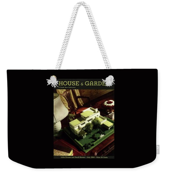 A House And Garden Cover Of A Model House Weekender Tote Bag
