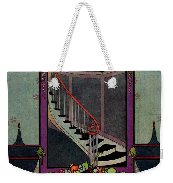 A House And Garden Cover Of A Staircase Weekender Tote Bag