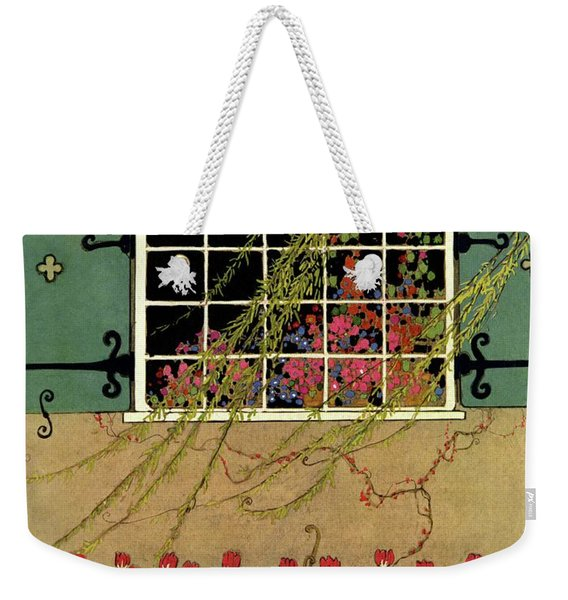 A House And Garden Cover Of A Window Weekender Tote Bag