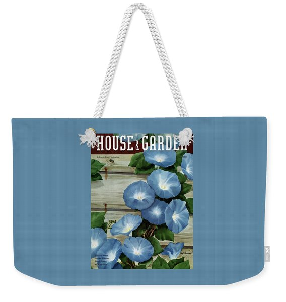 A House And Garden Cover Of Flowers Weekender Tote Bag