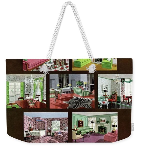 A House And Garden Cover Of Interior Design Weekender Tote Bag