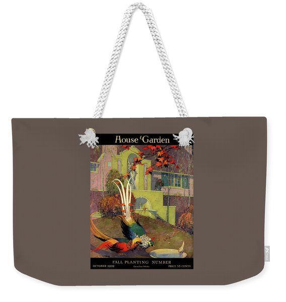 A House And Garden Cover Of Peacocks Weekender Tote Bag