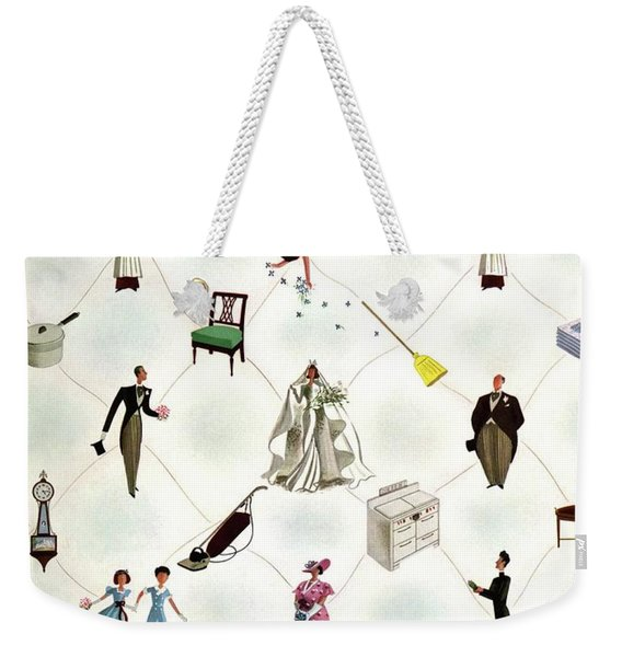 A House And Garden Cover Of People And Household Weekender Tote Bag