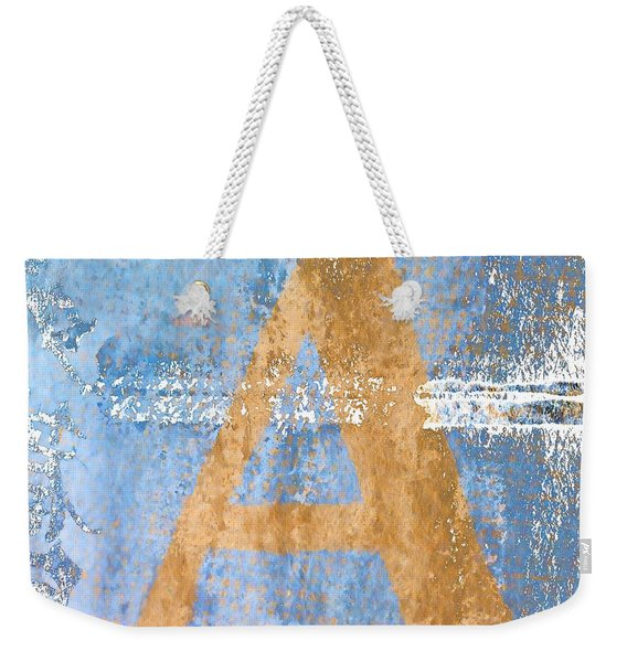A In Blue Weekender Tote Bag