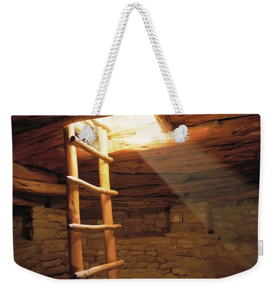 A Kiva Ladder And Sun Rays In A Kiva Weekender Tote Bag