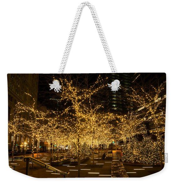 A Little Golden Garden In The Heart Of Manhattan New York City Weekender Tote Bag