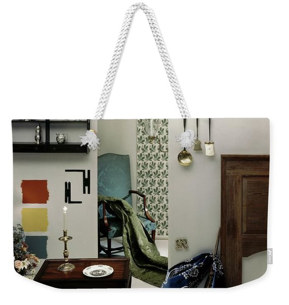 A Living Room Designed By Raleigh Tavern Weekender Tote Bag