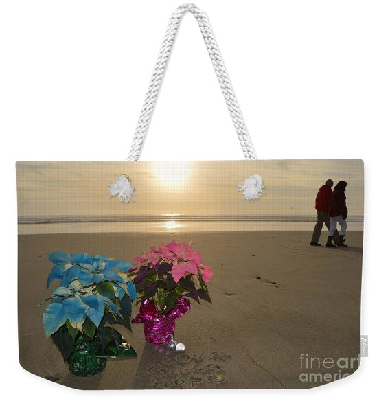 Weekender Tote Bag featuring the photograph A Lovely Christmas by Laurie Lundquist