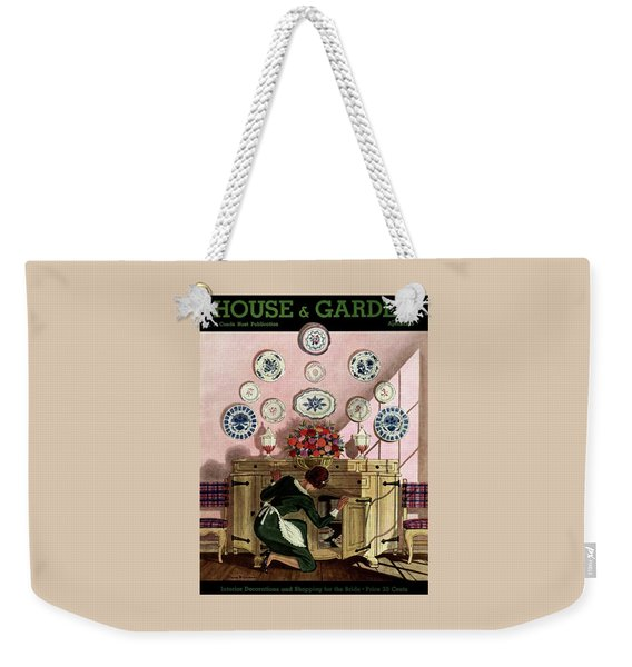 A Maid Getting China From A French Provincial Weekender Tote Bag