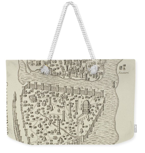 A Map Of Constantinople In 1422 Weekender Tote Bag