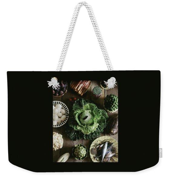 A Mixed Variety Of Food And Ceramic Imitations Weekender Tote Bag