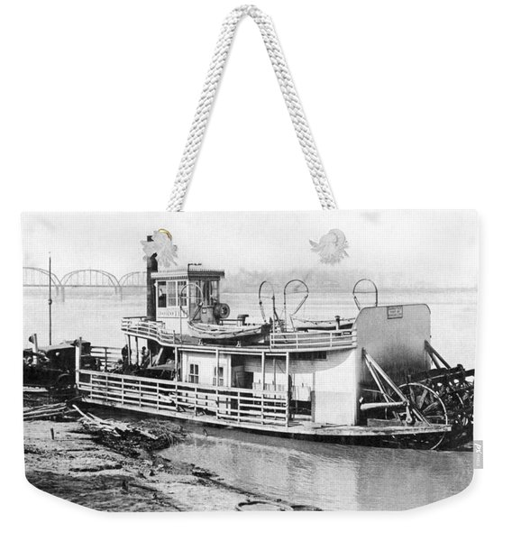 A Paddlewheel Ferry Boat Weekender Tote Bag