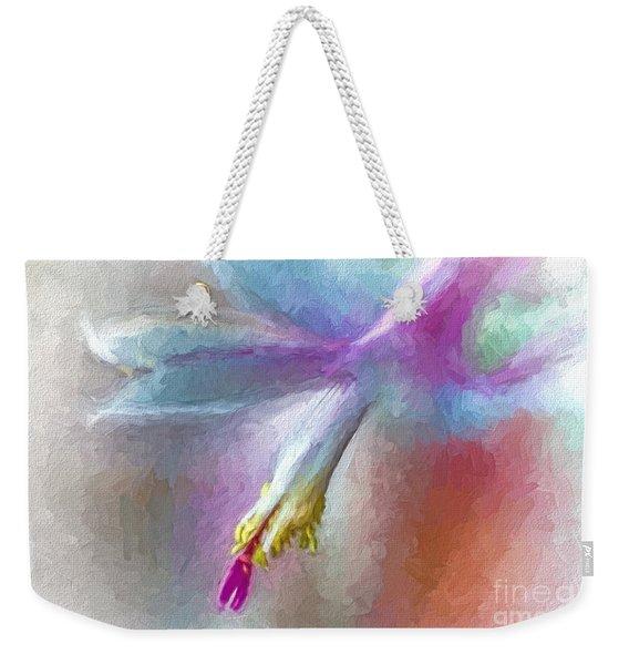 A Painted Christmas Cactus  Weekender Tote Bag