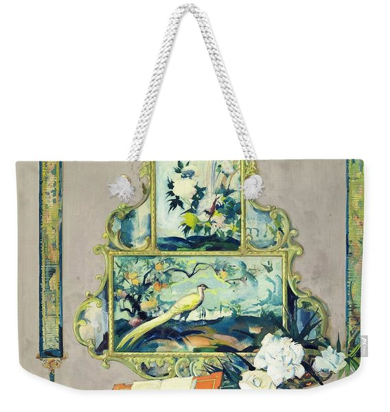 A Painting Of A House Interior Weekender Tote Bag
