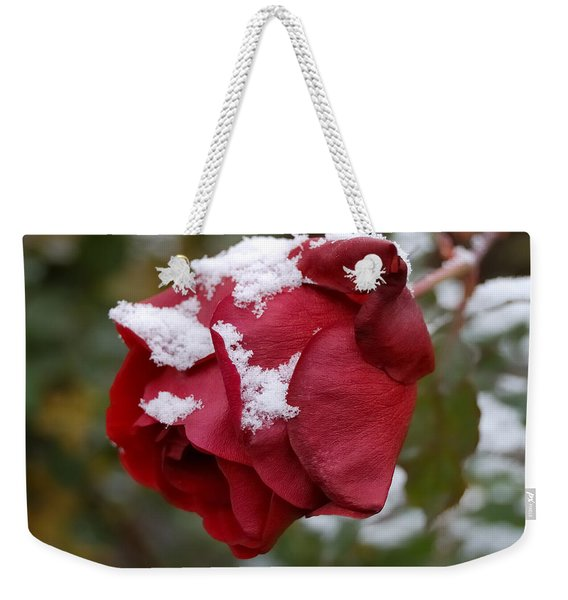A Passing Unrequited - Rose In Winter Weekender Tote Bag