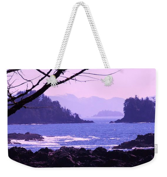 a Peek at the Bay Weekender Tote Bag