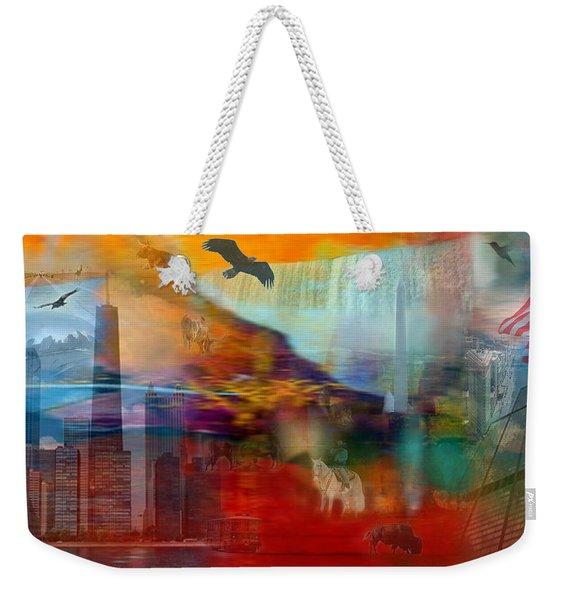 A Piece Of America Weekender Tote Bag