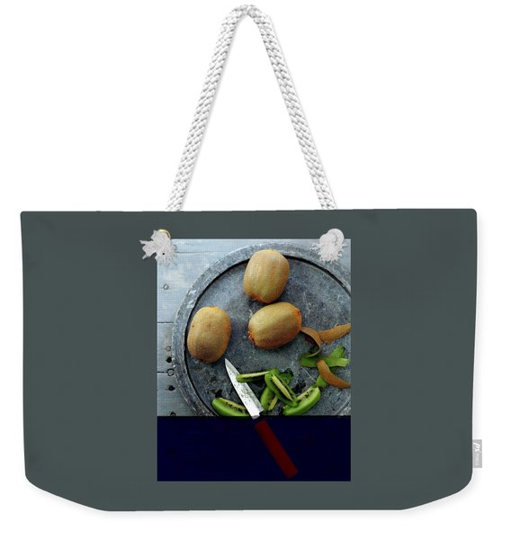 A Plate Of Kiwifuit Weekender Tote Bag