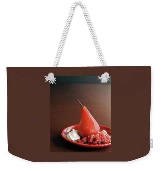 A Poached Pear Weekender Tote Bag
