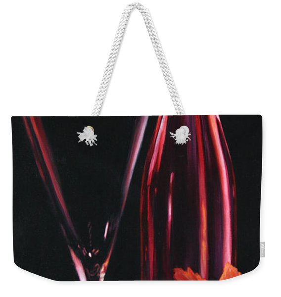 Weekender Tote Bag featuring the painting A Prelude To Romance by Sandi Whetzel