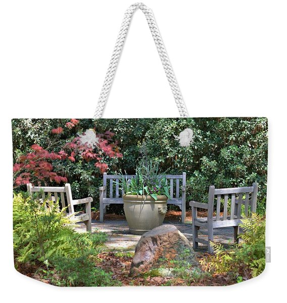 A Quiet Place To Meet Weekender Tote Bag