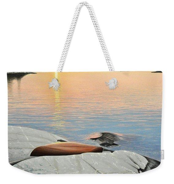 A Quiet Time Weekender Tote Bag
