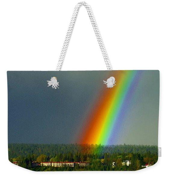 A Rainbow Blessing Spokane Weekender Tote Bag